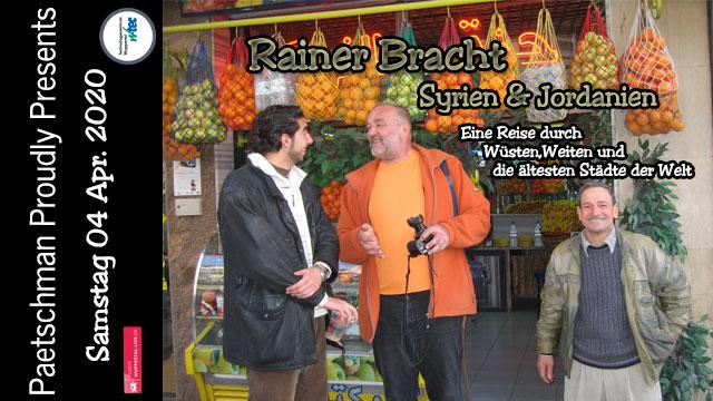 Paetschman Proudly Presents - Rainer Bracht am 04.04.2020